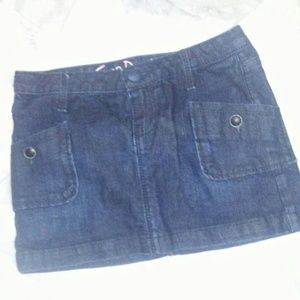 Girls Gap Denim Mini Skirt